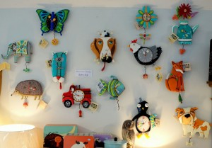 Quirky character clocks with swinging pendulums, £39.95.