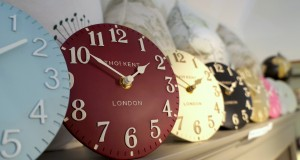"These little 6"" mantel clocks by Thomas Kent are freestanding and come in a variety of colours and styles"